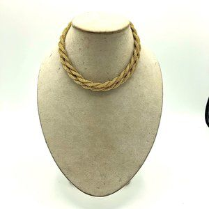 Vintage Gold Double Strand Twisted Rope Necklace